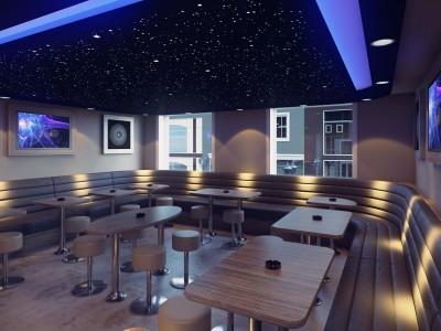 Kruidentuin Coffeeshop, Nijmegen, Nederland- 3D render