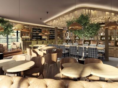 HUGO restaurant - 3d render