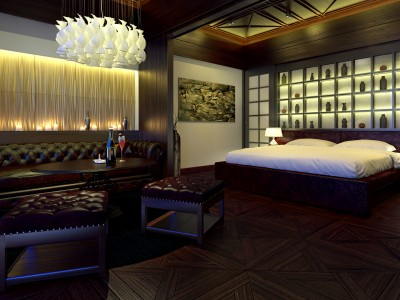 Hotel Inrichting - 3D render